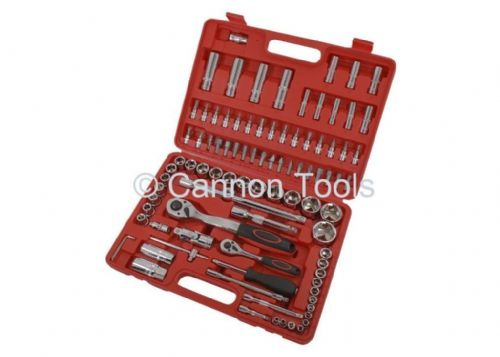 "94Pc Socket/Sockets 1/4"" & 1/2"" Drive Ratchet Handle Socket & Bit Set"